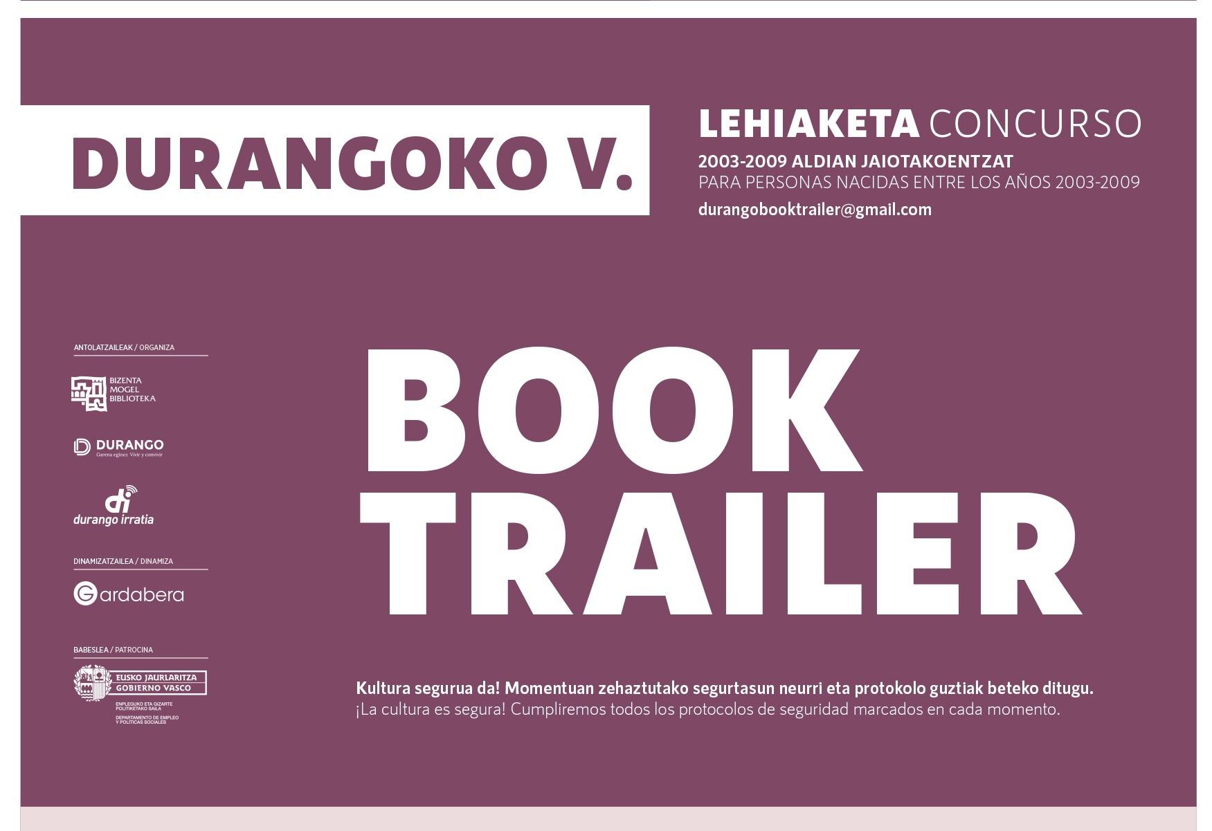 [dotb.eus] Durango pone en marcha la 5ª edición del concurso Book Trailer