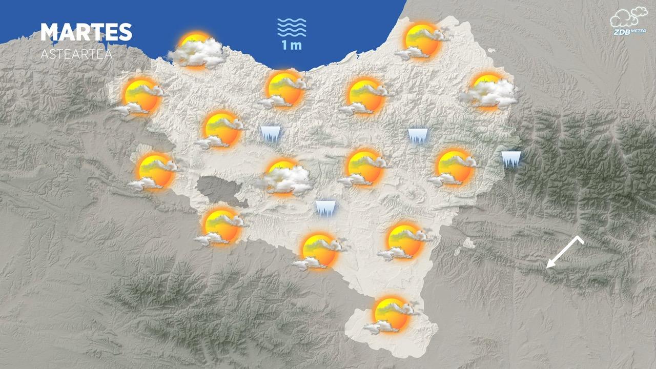 [dotb.eus] Ambiente soleado con temperaturas en ligero ascenso